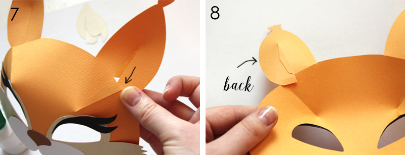 DIY paper squirrel mask for kids