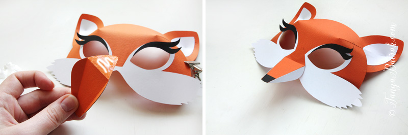 paper fox mask for kids