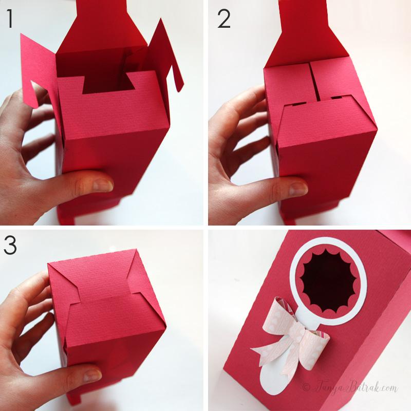 DIY paper box with window
