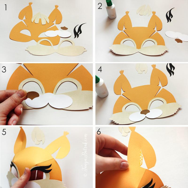 kids paper squirrel mask