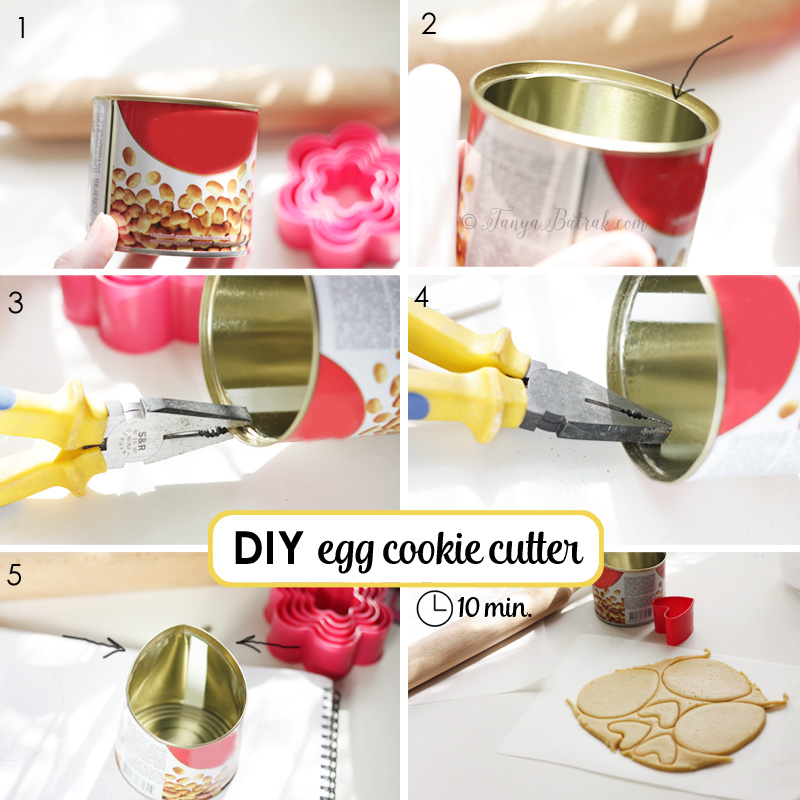 DIY egg cookie cutter