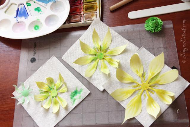 DIY paper clematis flower