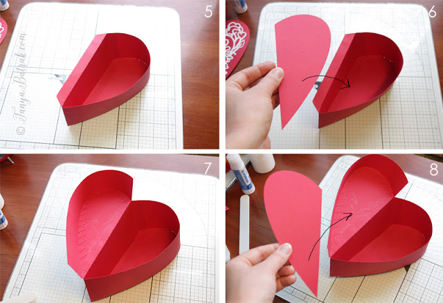 st. valentine heart shaped box