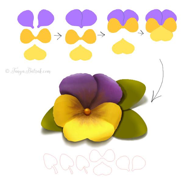 DIY paper pansy flower