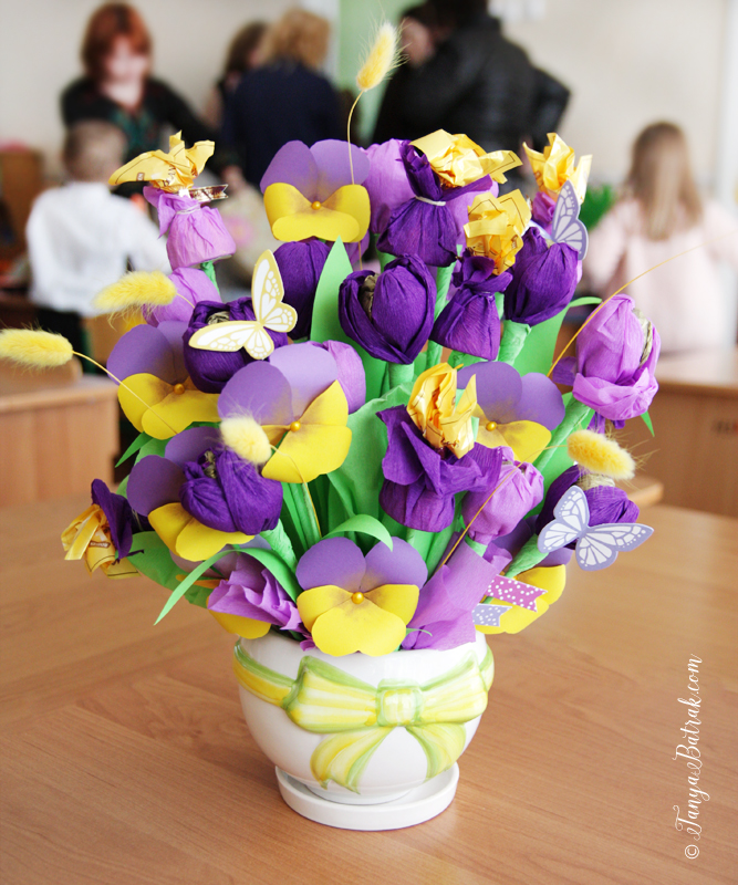 DIY Sweet Bouquet Using Pansy Flower Cut File
