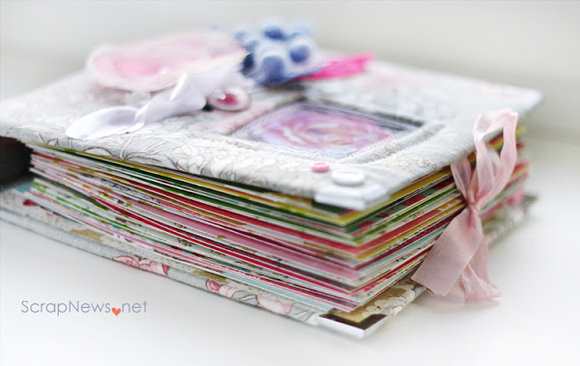 Flower Scrapbook Album Tutorial