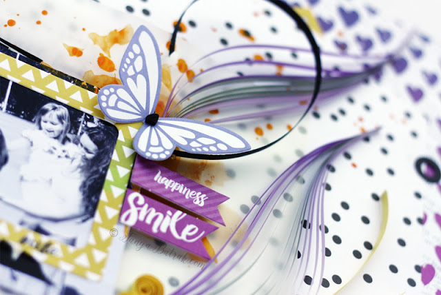 scrapbook Layout using quilling