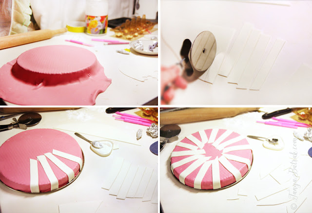 DIY cake with gum paste pony top