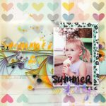 Summer Themed Layout with Quilling Elements