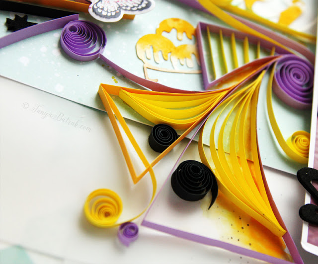 scrapbook and quilling