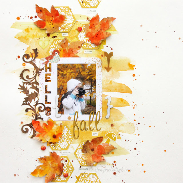 Hello Fall • Scrapbook Layout