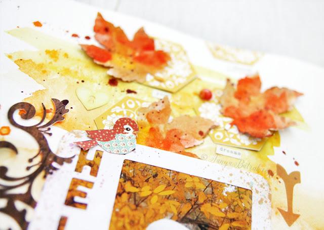 fall themed scrapbook layout