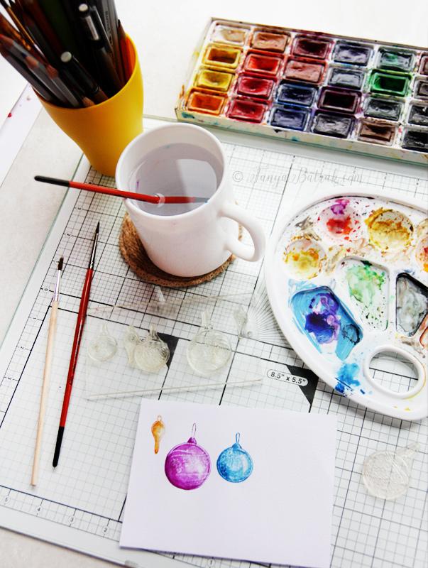 Watercolor card technique