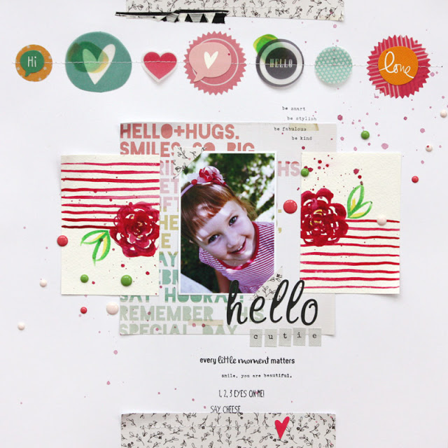 Scrapbook Layout with DIY Elements
