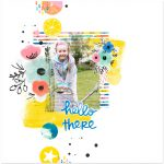 Colourful Digital Scrapbook Layout