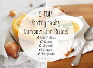 Photography Composition Rules cheat sheet