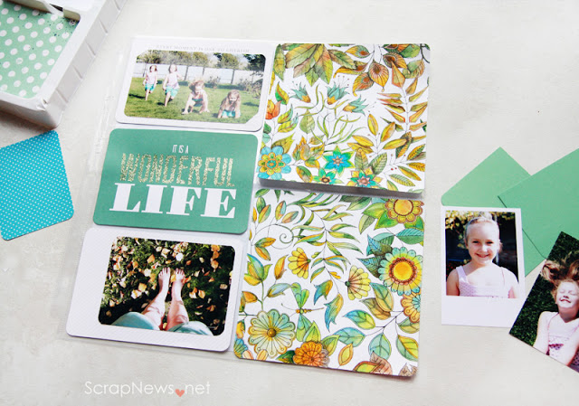 Pocket scrapbooking DIY journaling cards