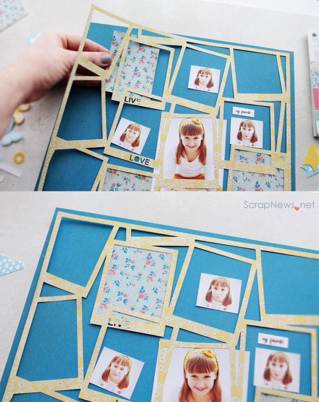 Diy polaroid frames background
