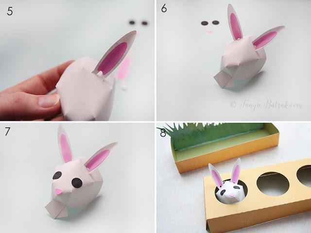 DIY Easter paper bunny