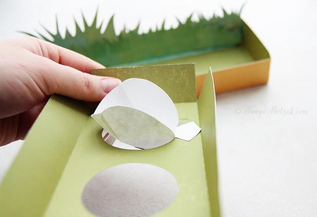 DIY Easter paper bunny egg holder