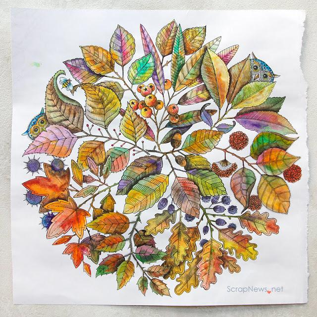 diy autumn background for scrapbook layoyut