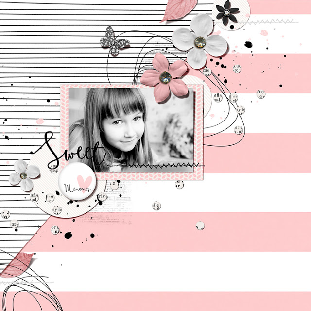 Sweet Memories ♥ Digital Scrapbooking Layout