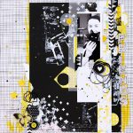 B&W with Sunny Yellow Color Combo Scrapbook Layout