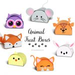 Cute Animal Party Favor Boxes Cut Files