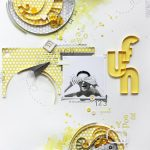 Scrapbook Layout with Quilling Elements