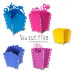 DIY Paper Stitched Boxes and Paper Flower Cut Files