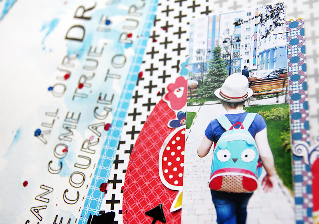 contrast colors on scrapbooking layout