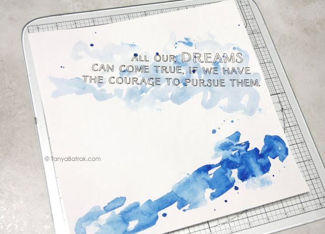 watercolor background for scrapbooking layout