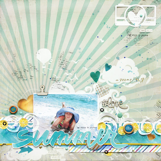 Sweet Summer Scrapbook Layout