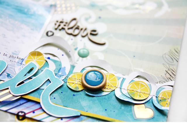 diy scrapbook title