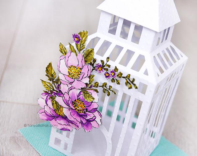 wedding decor paper cage