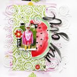 Scrapbook Tutorial: DIY Watercolour Background and Embellishments