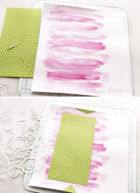 Scrapbook tutorial watercolour background