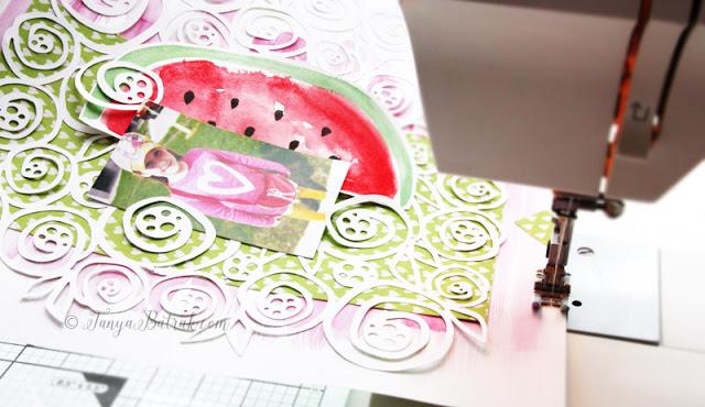 scrapbook layout stitching