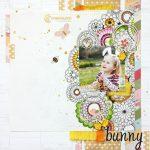 Bunny Dress Up Scrapbook Layout