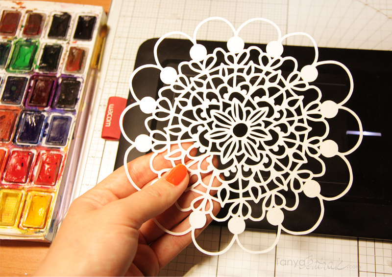 mandala doily cut file