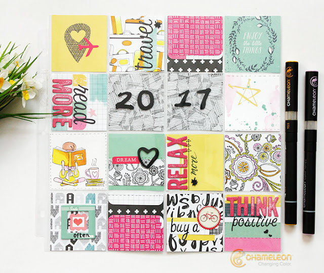 New Year Resolutions Layout for Pocket Scrapbooking Album