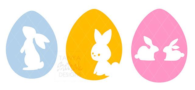 easter bunny egg cut file