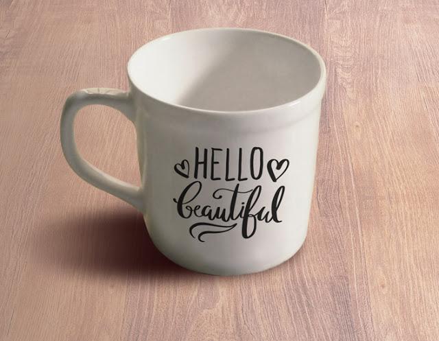 hello beautiful mug design cut file