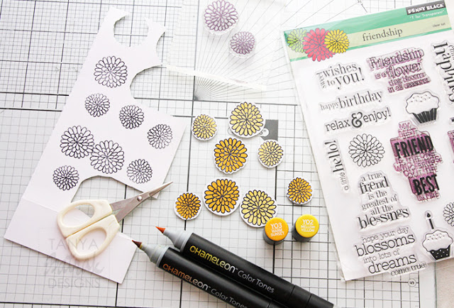 stamping technique in scrapbooking