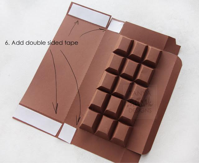 paper chocolade bar box
