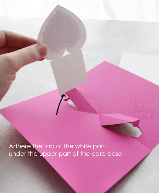 Pop up card with heart