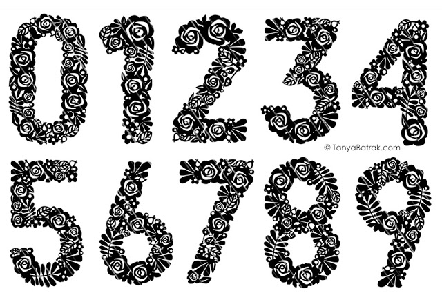 flower number cut file