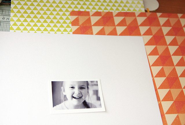 Make Your Own Background for Scrapbook Layout Using Patterned Paper