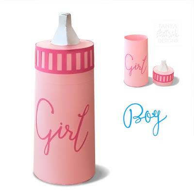 D Paper Baby Bottle Box