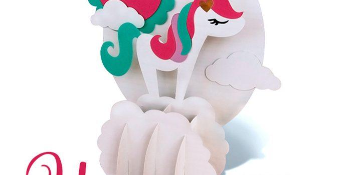 3D Unicorn Scene